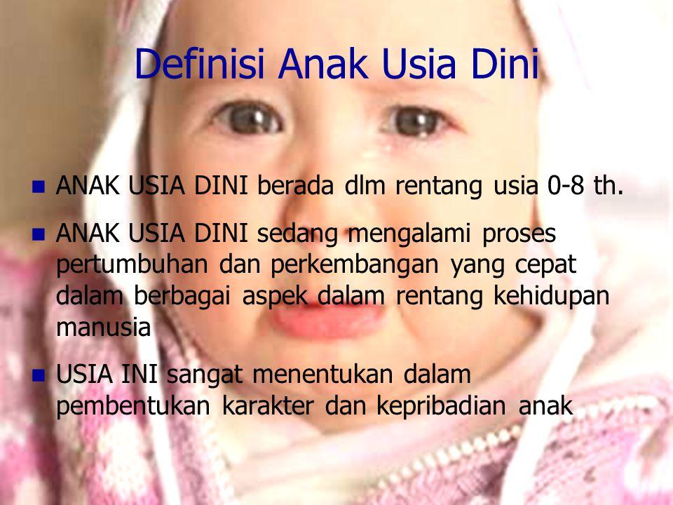 Definisi Anak Usia Dini