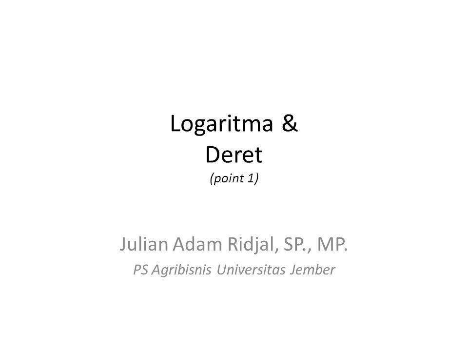 Logaritma & Deret (point 1)