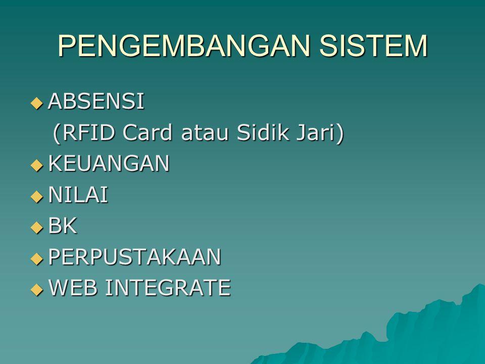 PENGEMBANGAN SISTEM ABSENSI (RFID Card atau Sidik Jari) KEUANGAN NILAI