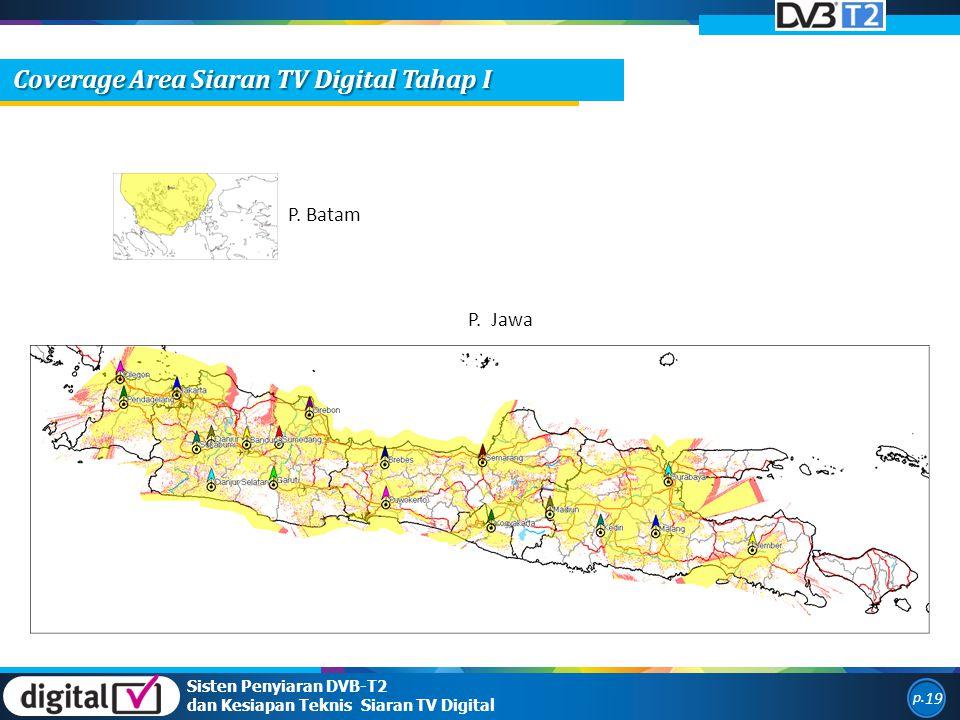 Coverage Area Siaran TV Digital Tahap I