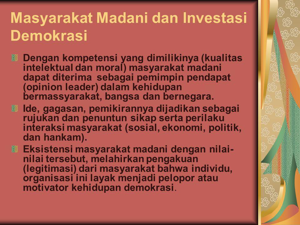 Masyarakat Madani dan Investasi Demokrasi