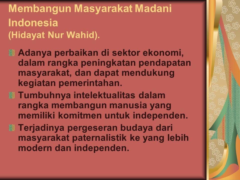Membangun Masyarakat Madani Indonesia (Hidayat Nur Wahid).