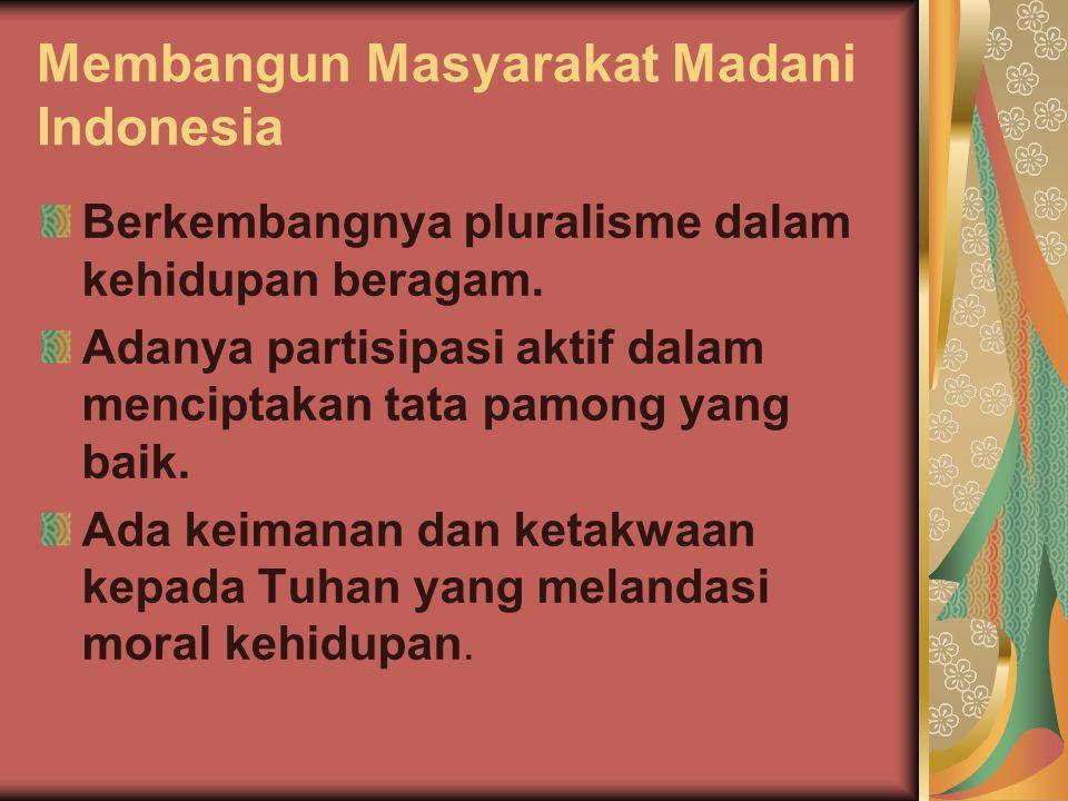 Membangun Masyarakat Madani Indonesia