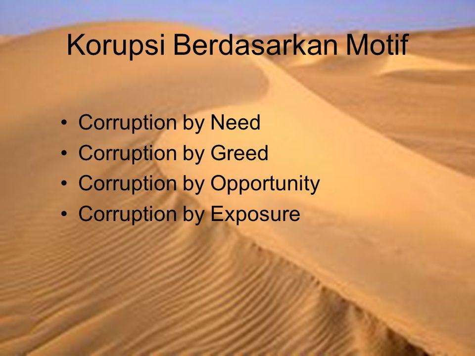 Korupsi Berdasarkan Motif