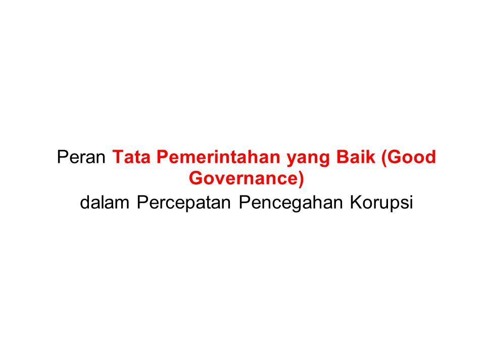 Peran Tata Pemerintahan yang Baik (Good Governance)