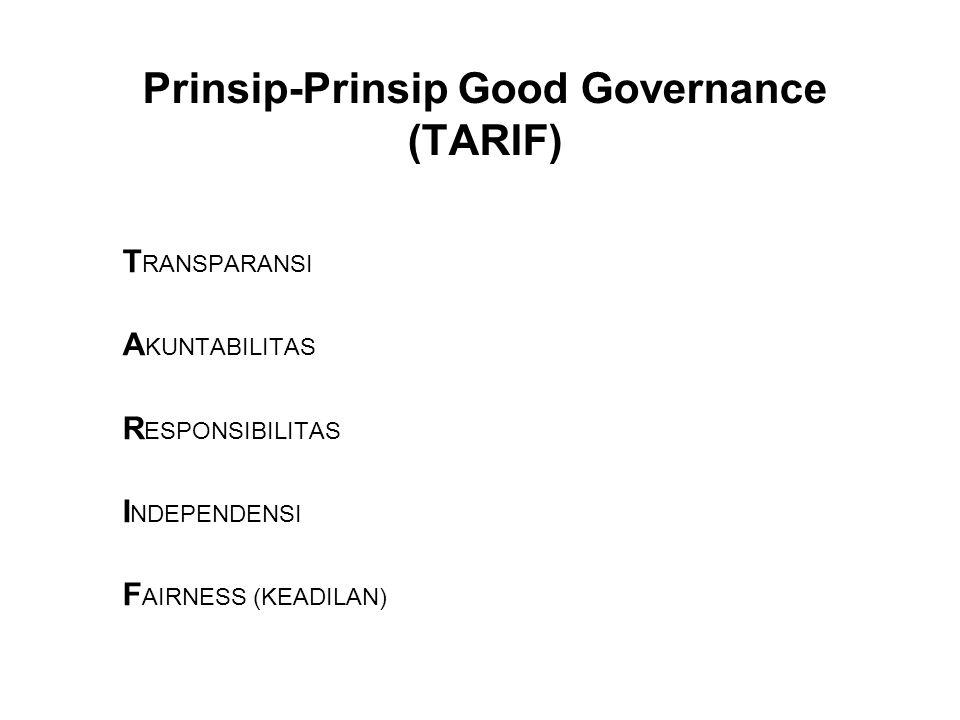 Prinsip-Prinsip Good Governance (TARIF)