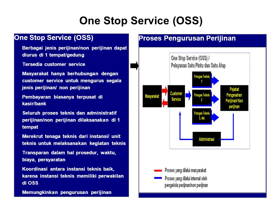 One Stop Service (OSS)‏