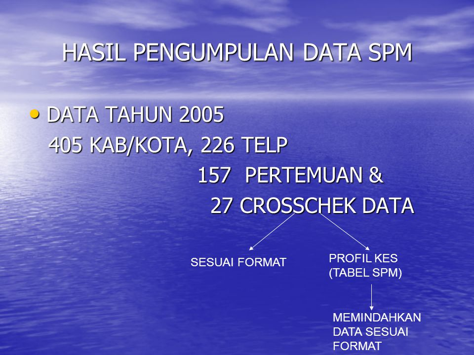 HASIL PENGUMPULAN DATA SPM