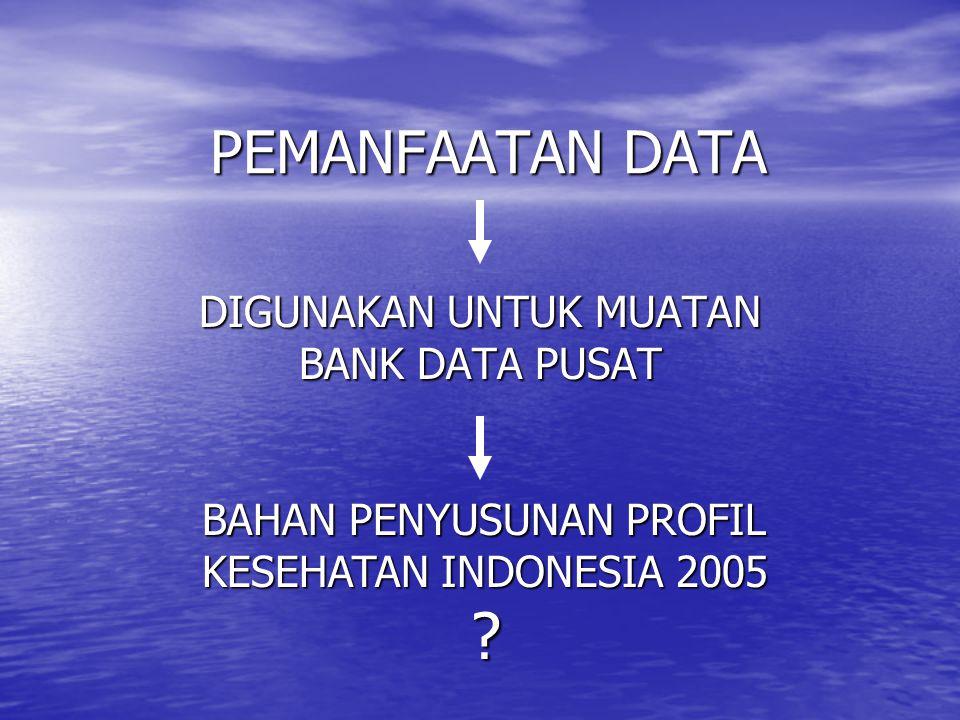 DIGUNAKAN UNTUK MUATAN BANK DATA PUSAT