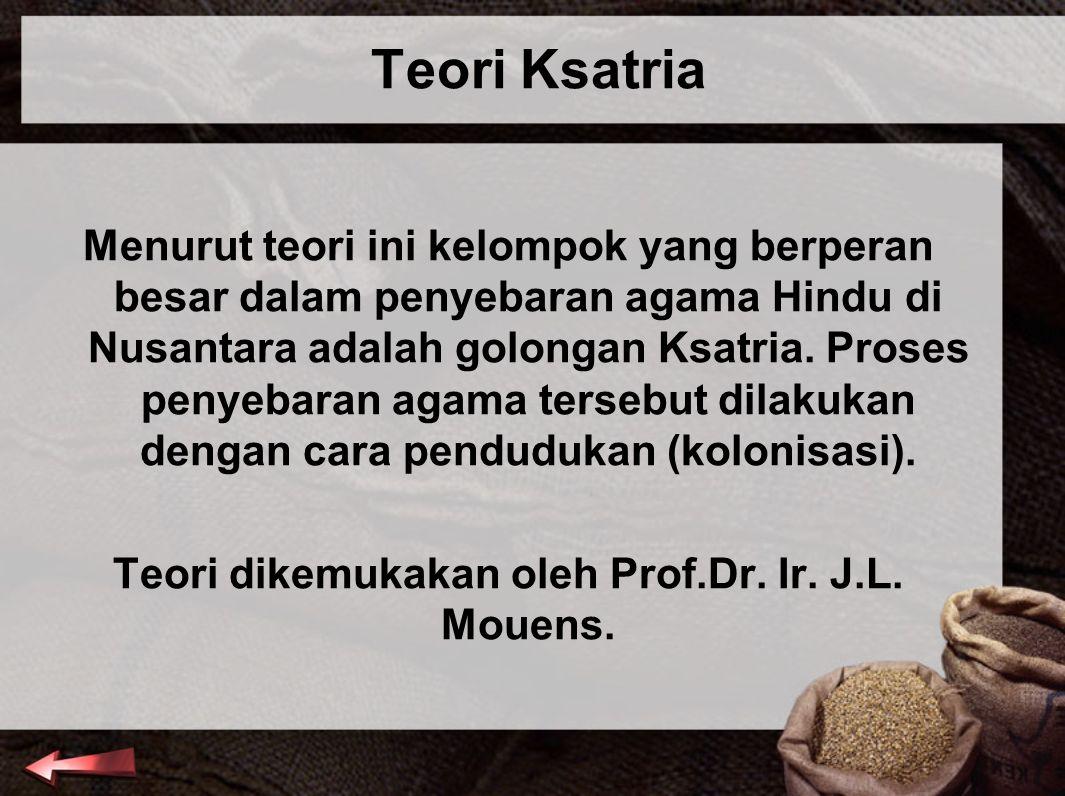 Teori dikemukakan oleh Prof.Dr. Ir. J.L. Mouens.
