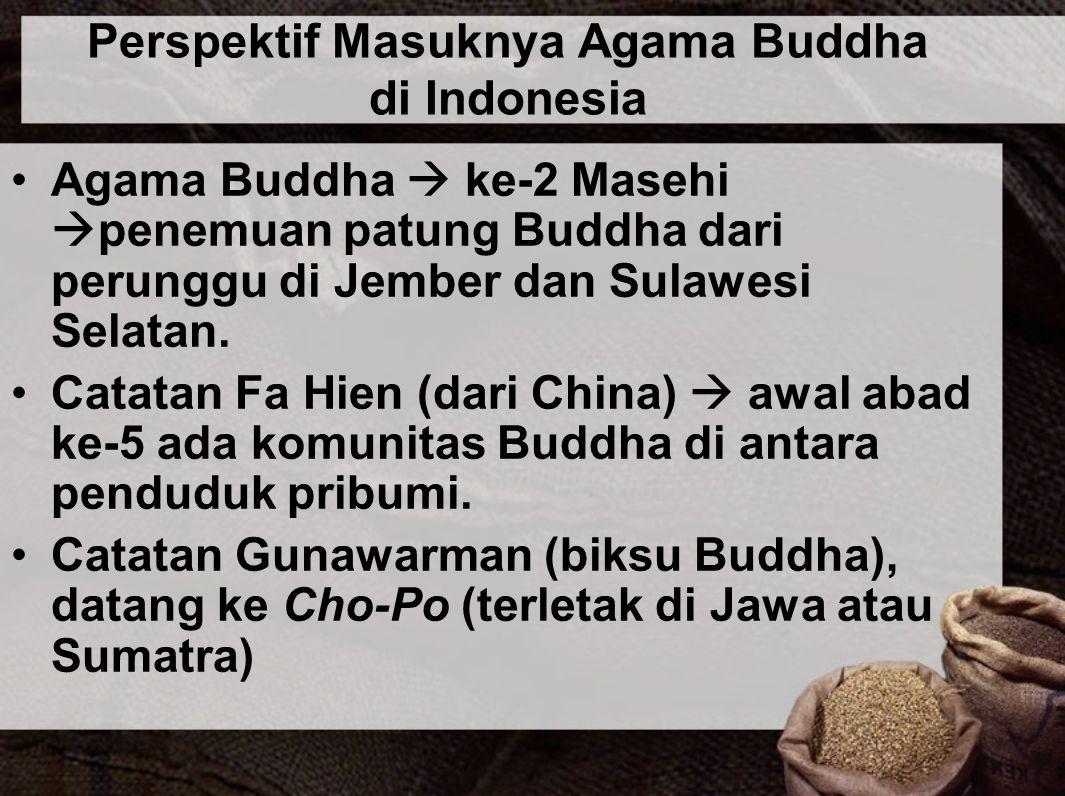 Perspektif Masuknya Agama Buddha di Indonesia