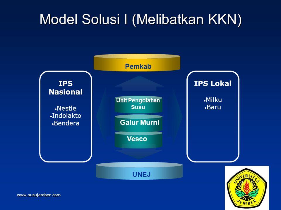 Model Solusi I (Melibatkan KKN)