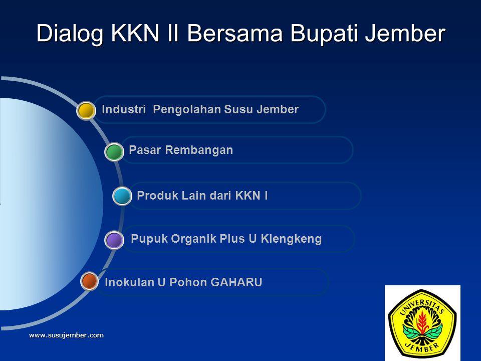 Dialog KKN II Bersama Bupati Jember
