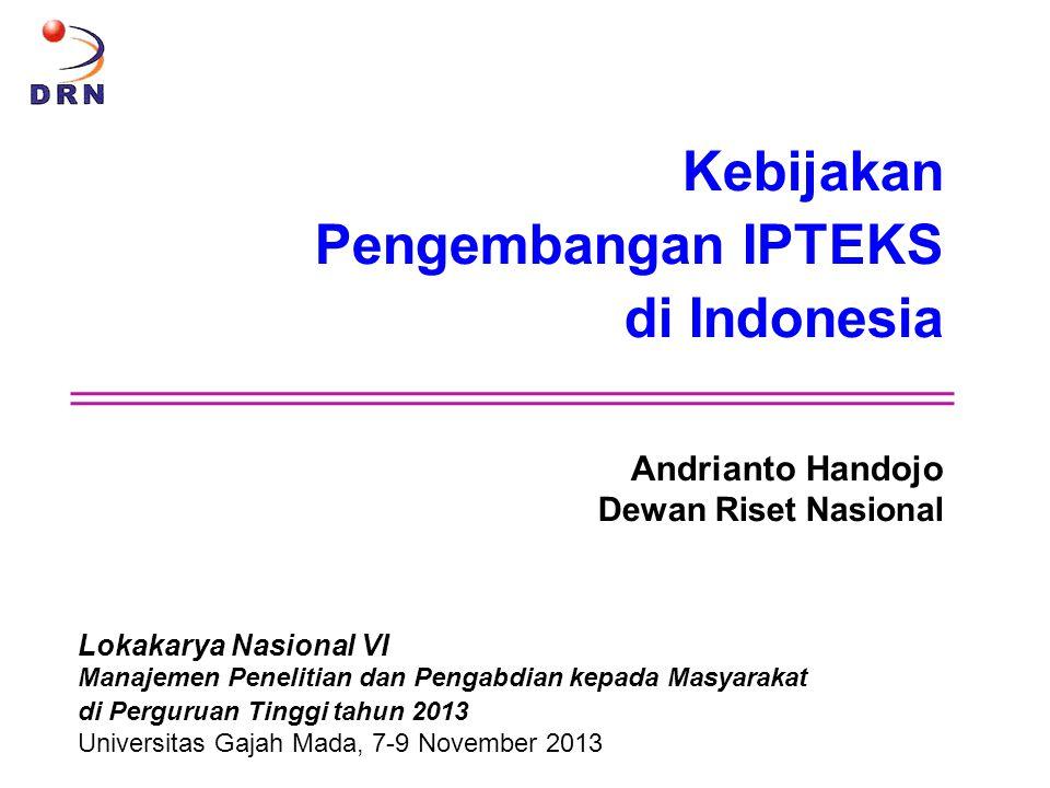 Kebijakan Pengembangan IPTEKS di Indonesia