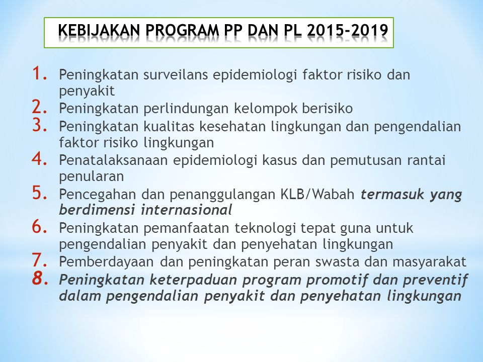 KEBIJAKAN PROGRAM PP DAN PL 2015-2019