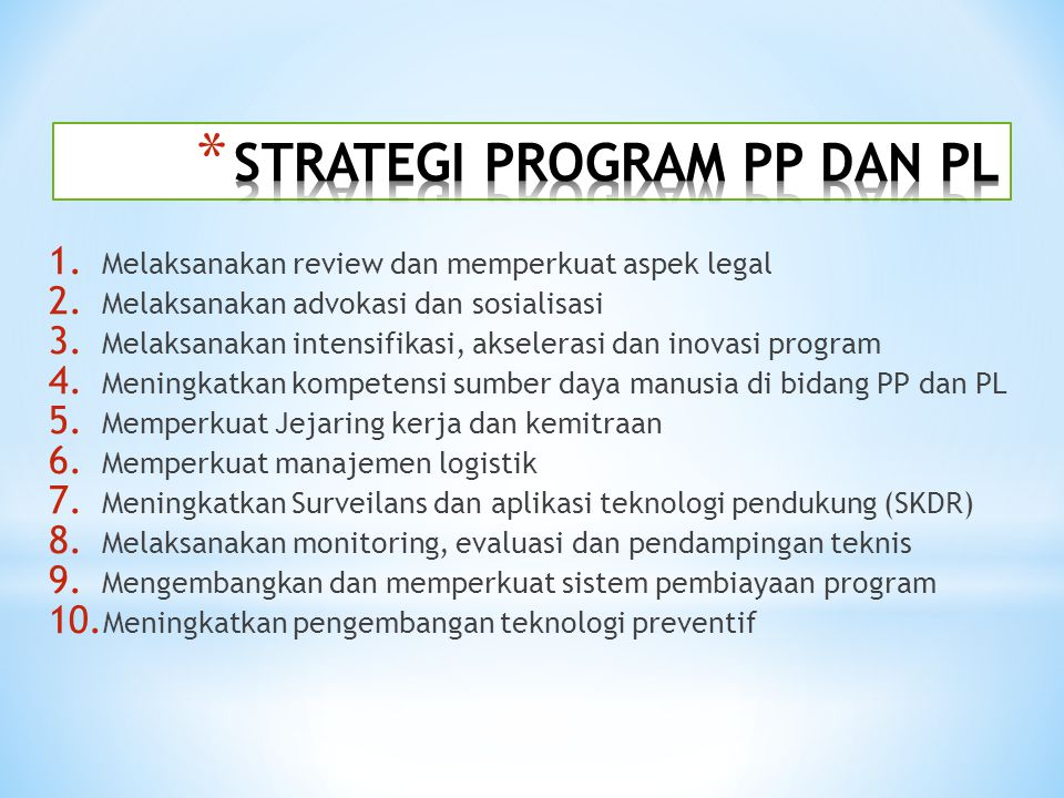 STRATEGI PROGRAM PP DAN PL