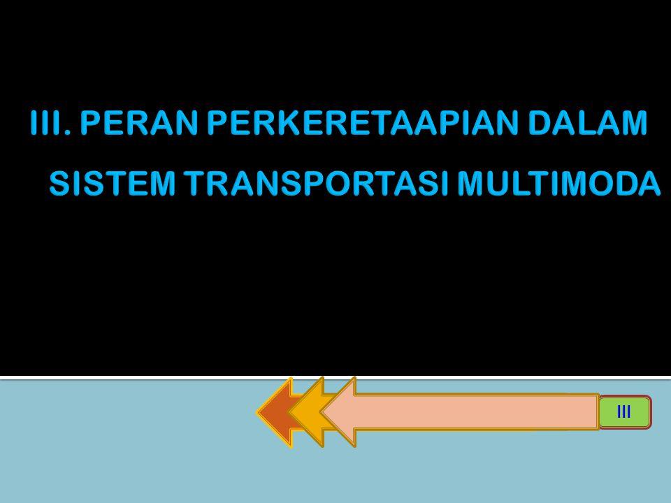 III. PERAN PERKERETAAPIAN DALAM SISTEM TRANSPORTASI MULTIMODA