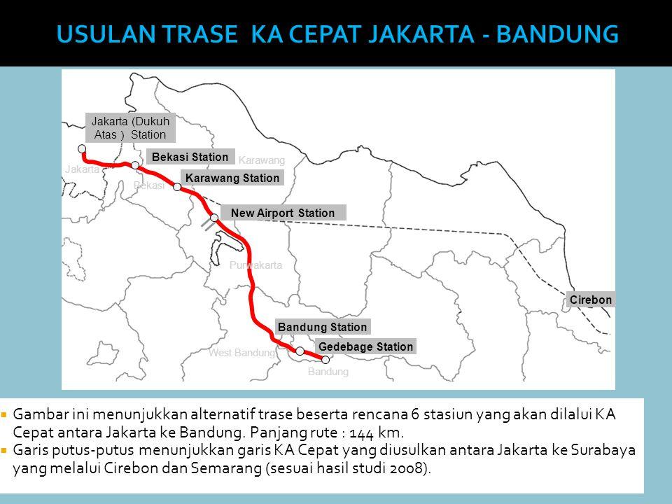 USULAN TRASE KA CEPAT JAKARTA - BANDUNG