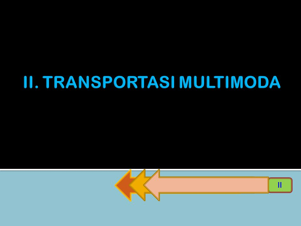 II. TRANSPORTASI MULTIMODA