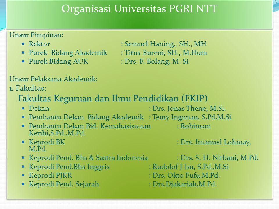 Organisasi Universitas PGRI NTT