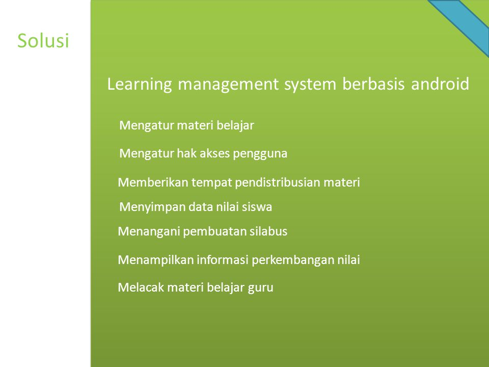 Solusi Learning management system berbasis android