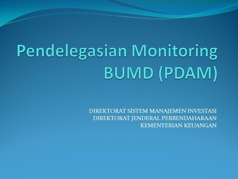 Pendelegasian Monitoring BUMD (PDAM)