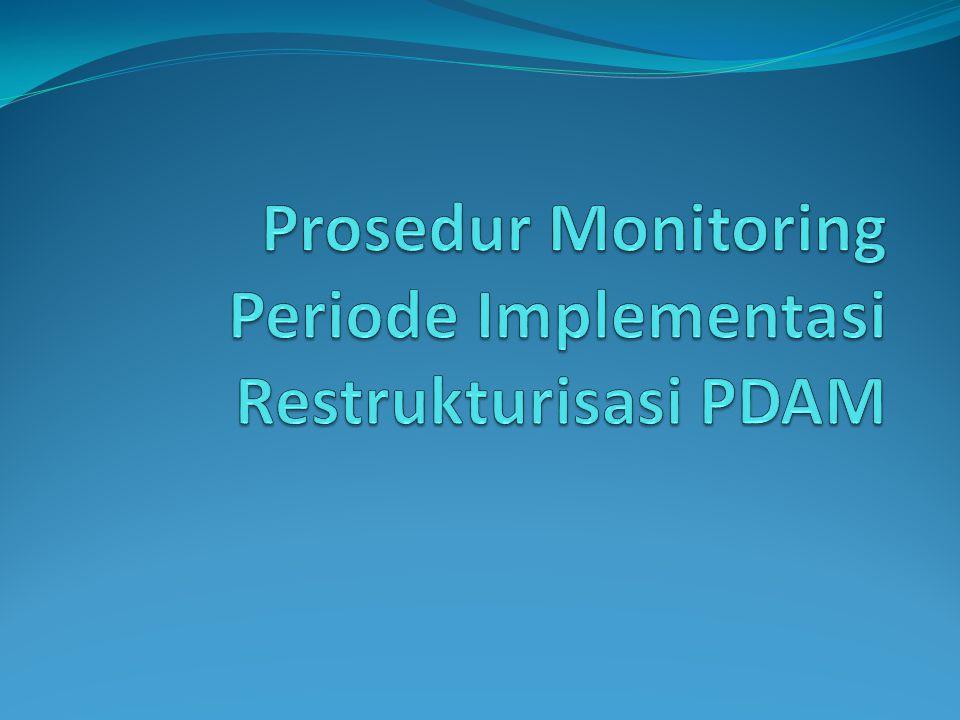 Prosedur Monitoring Periode Implementasi Restrukturisasi PDAM