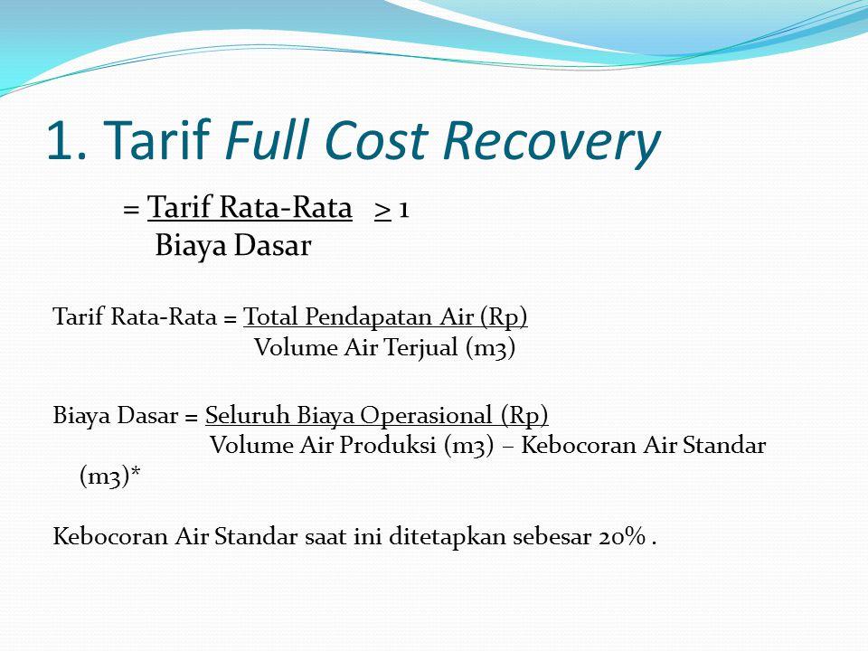 1. Tarif Full Cost Recovery