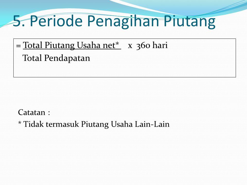 5. Periode Penagihan Piutang