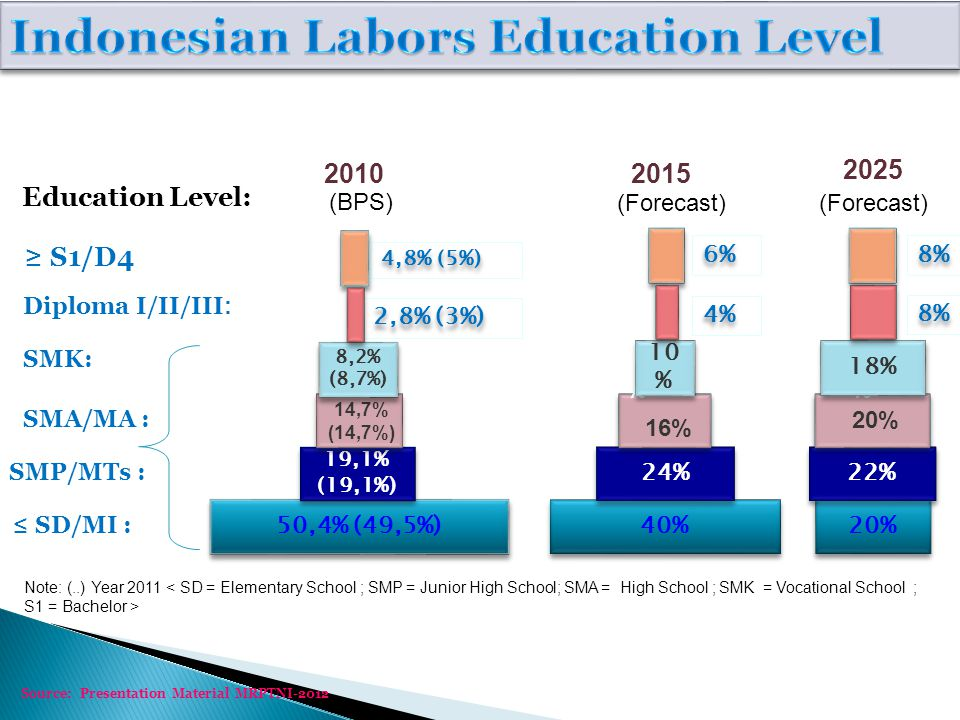 Indonesian Labors Education Level