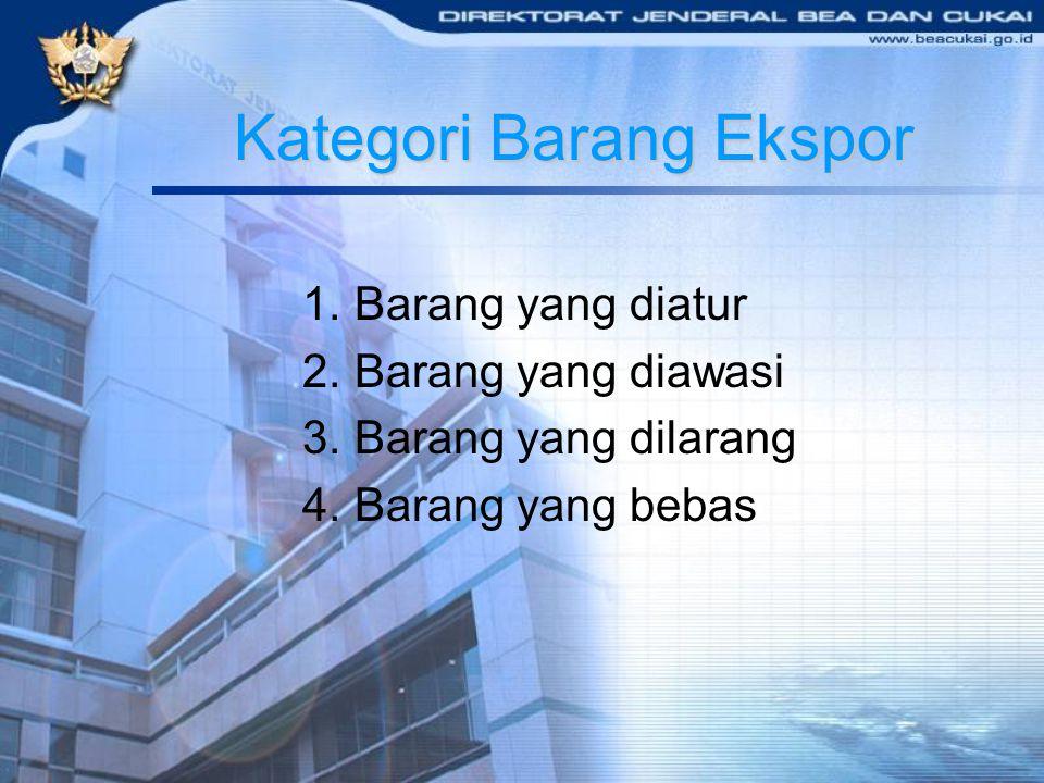 Kategori Barang Ekspor