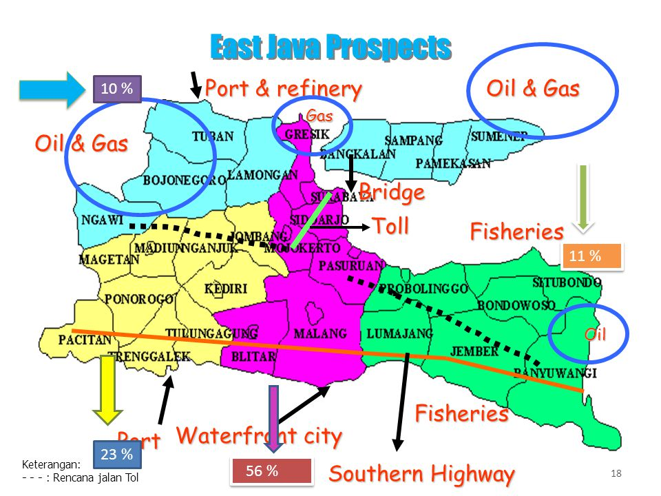East Java Prospects Port & refinery Oil & Gas Oil & Gas Bridge Toll