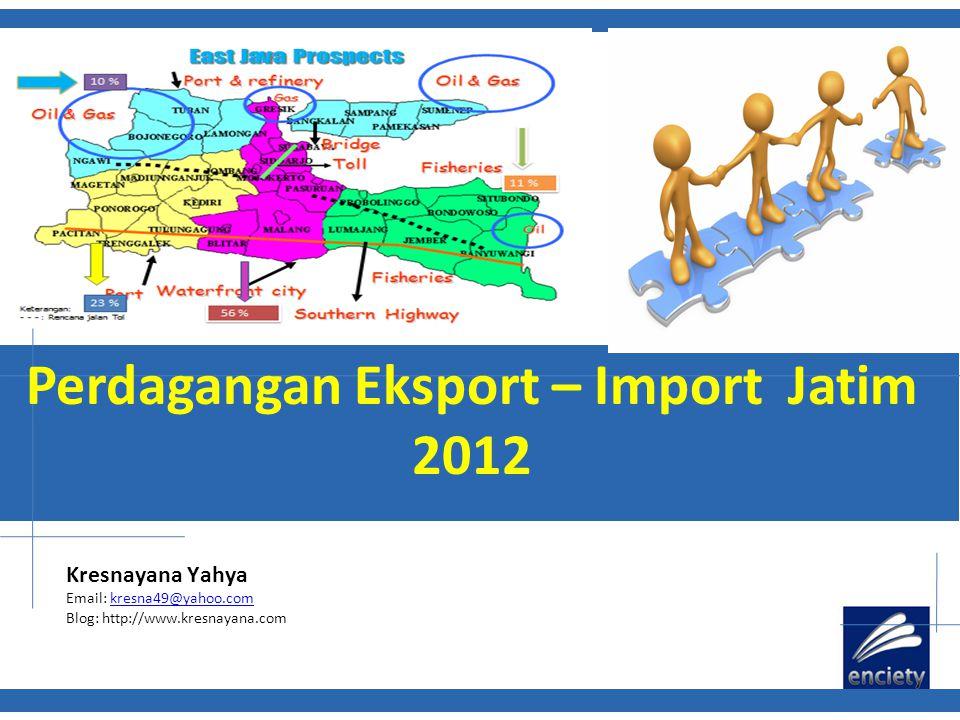 Perdagangan Eksport – Import Jatim