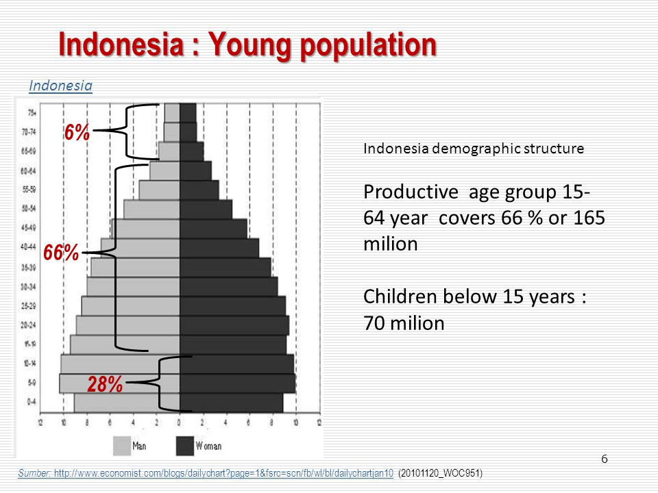 Indonesia : Young population