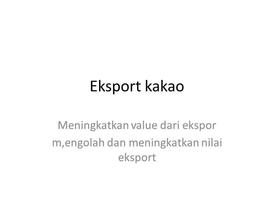Eksport kakao Meningkatkan value dari ekspor