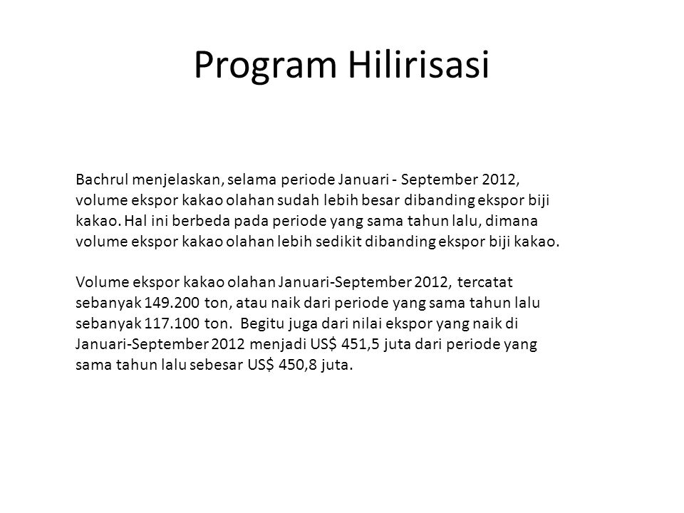 Program Hilirisasi