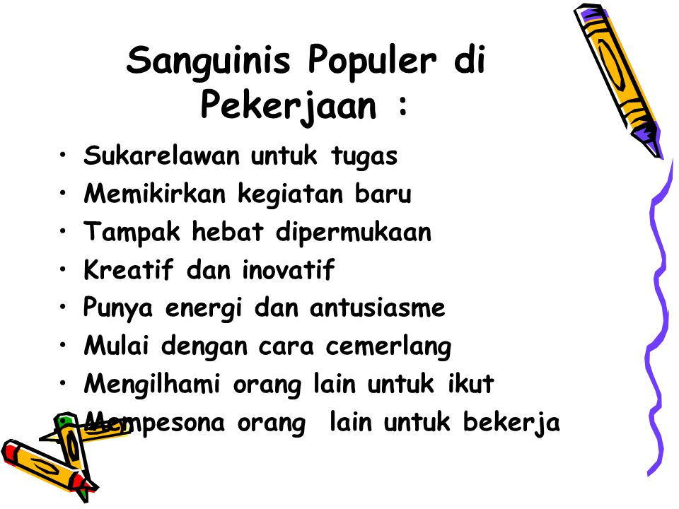 Sanguinis Populer di Pekerjaan :