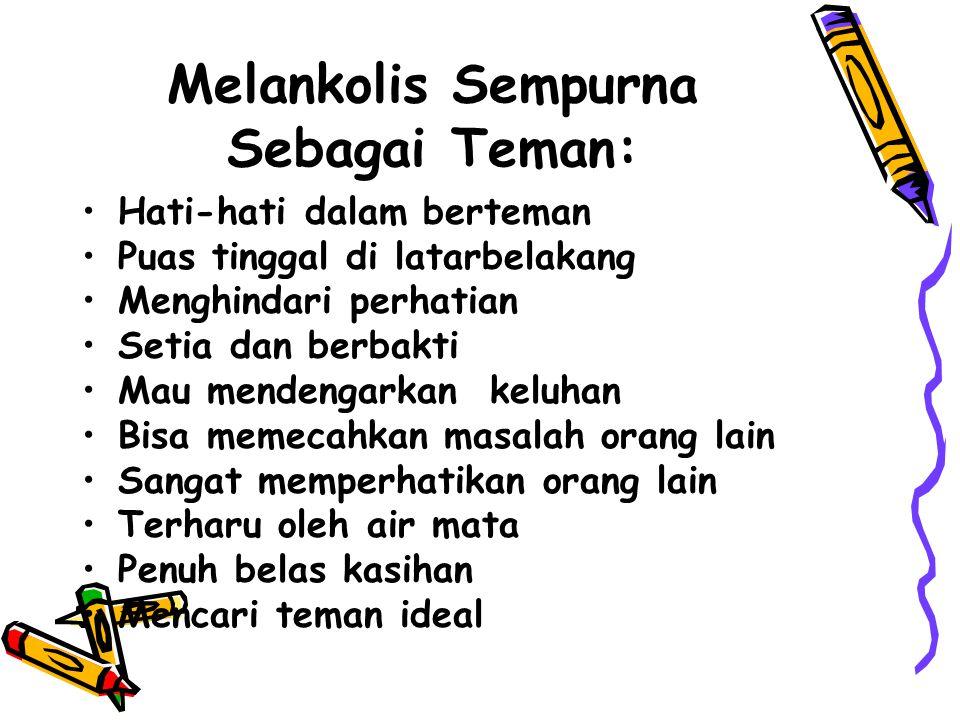 Melankolis Sempurna Sebagai Teman: