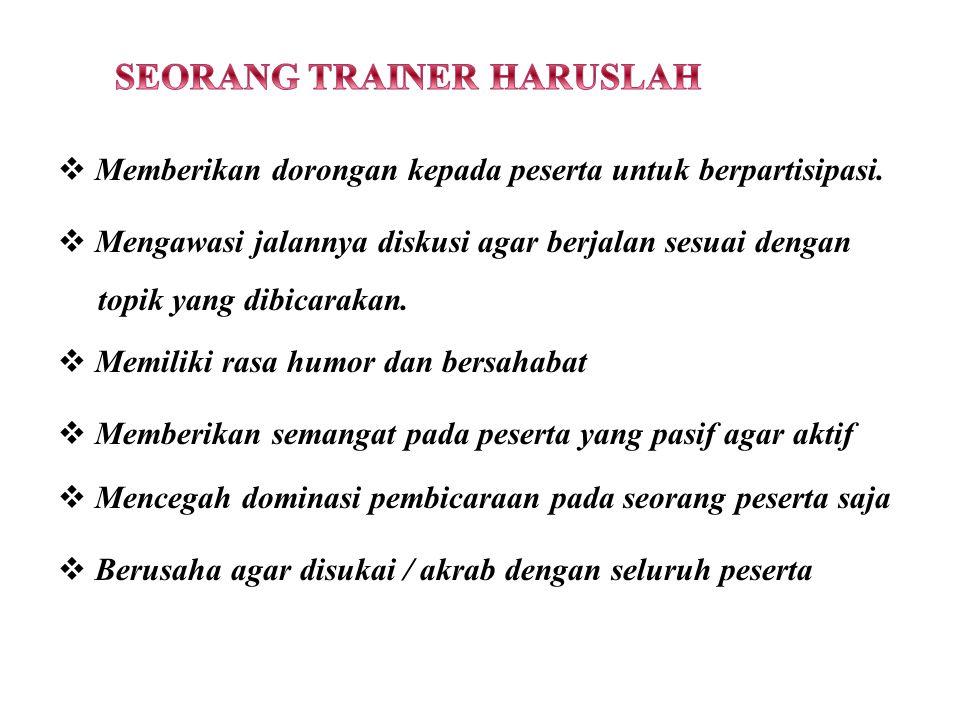 SEORANG TRAINER HARUSLAH