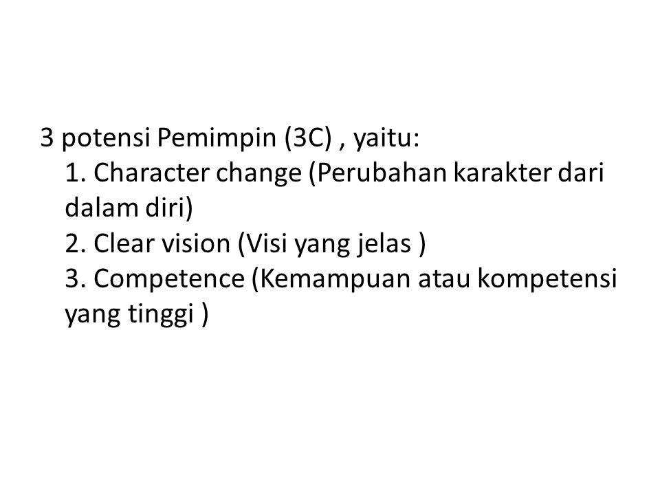 3 potensi Pemimpin (3C) , yaitu: 1