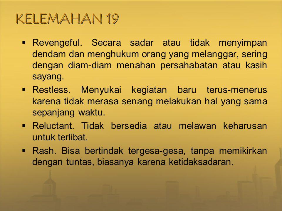 KELEMAHAN 19