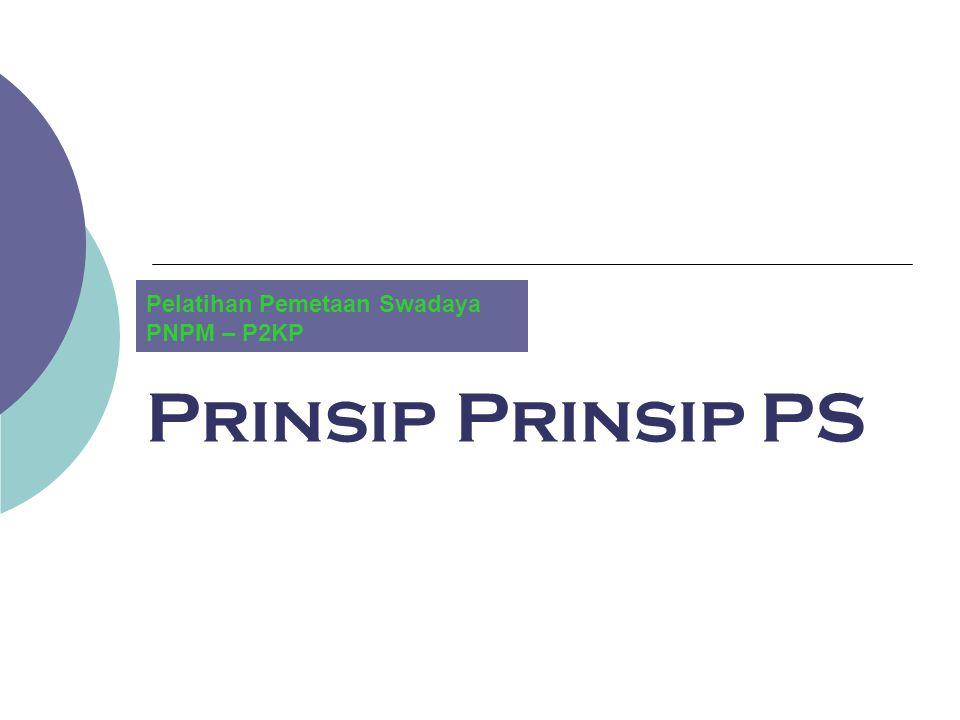 Pelatihan Pemetaan Swadaya PNPM – P2KP
