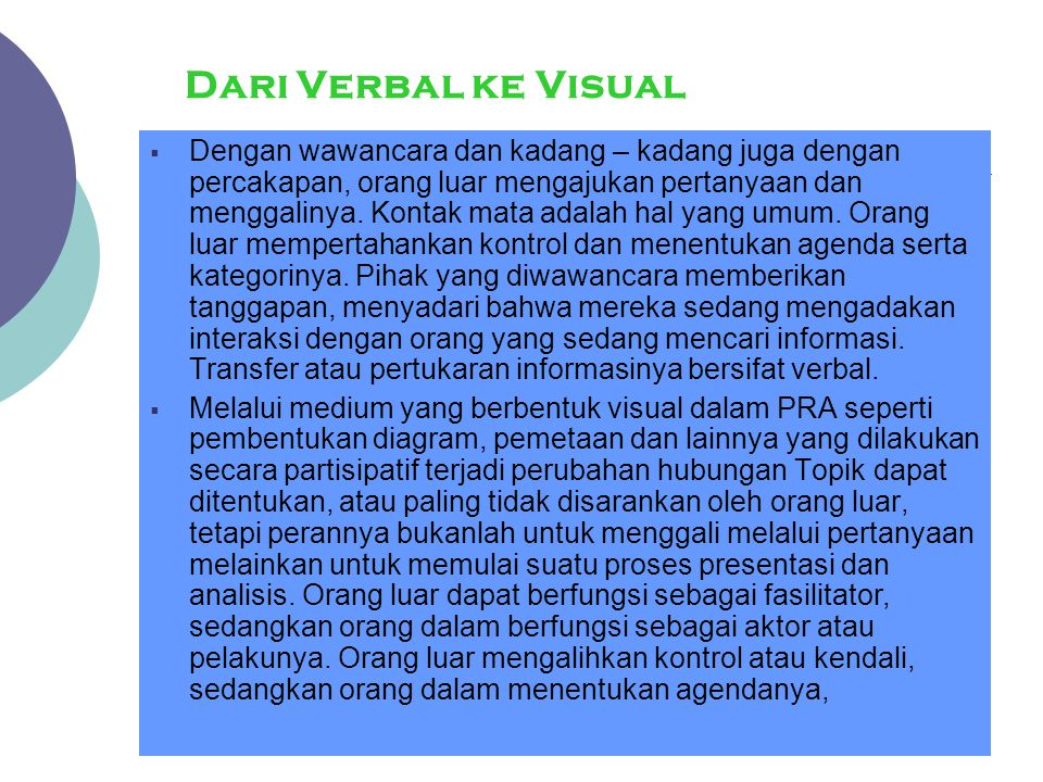 Dari Verbal ke Visual