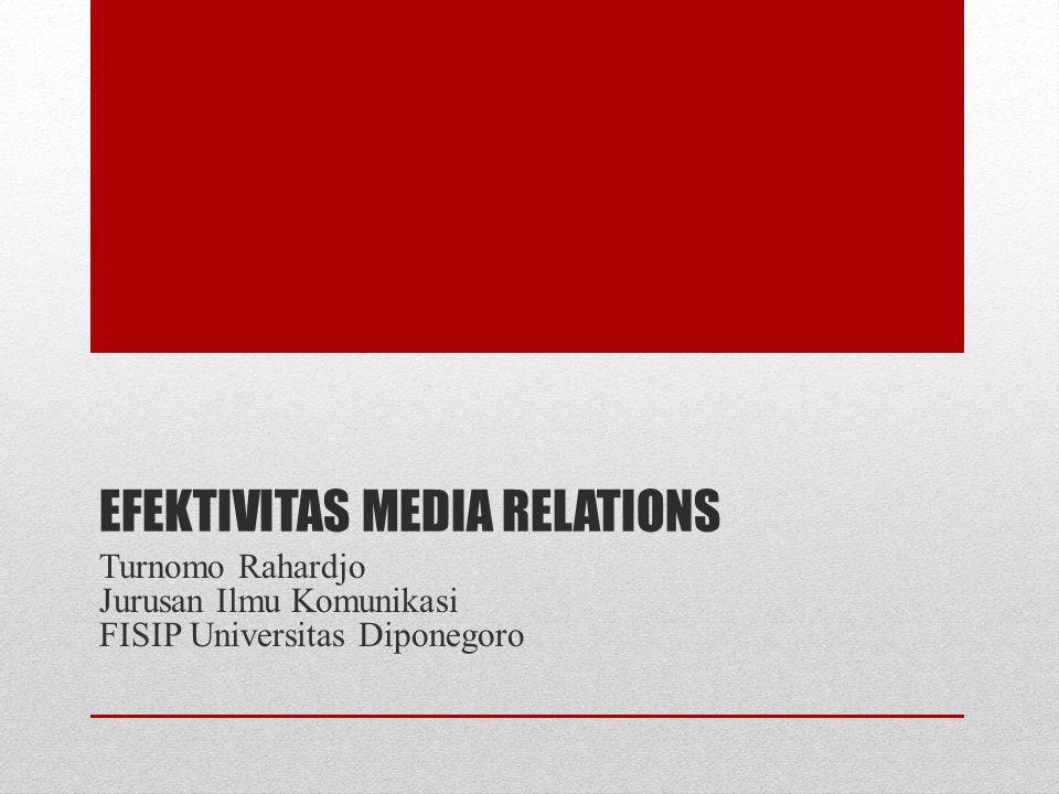 EFEKTIVITAS MEDIA RELATIONS