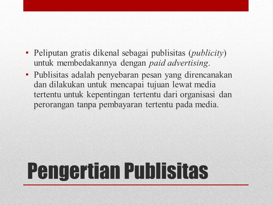 Pengertian Publisitas
