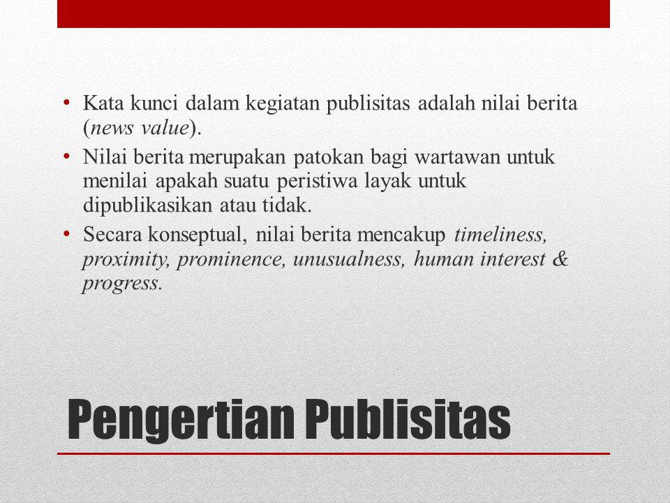 Pengertian Publisitas
