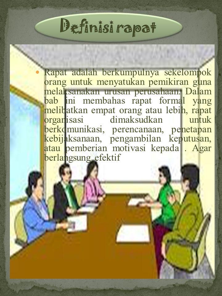 Definisi rapat