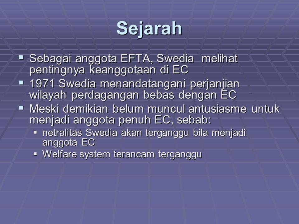 Sejarah Sebagai anggota EFTA, Swedia melihat pentingnya keanggotaan di EC.