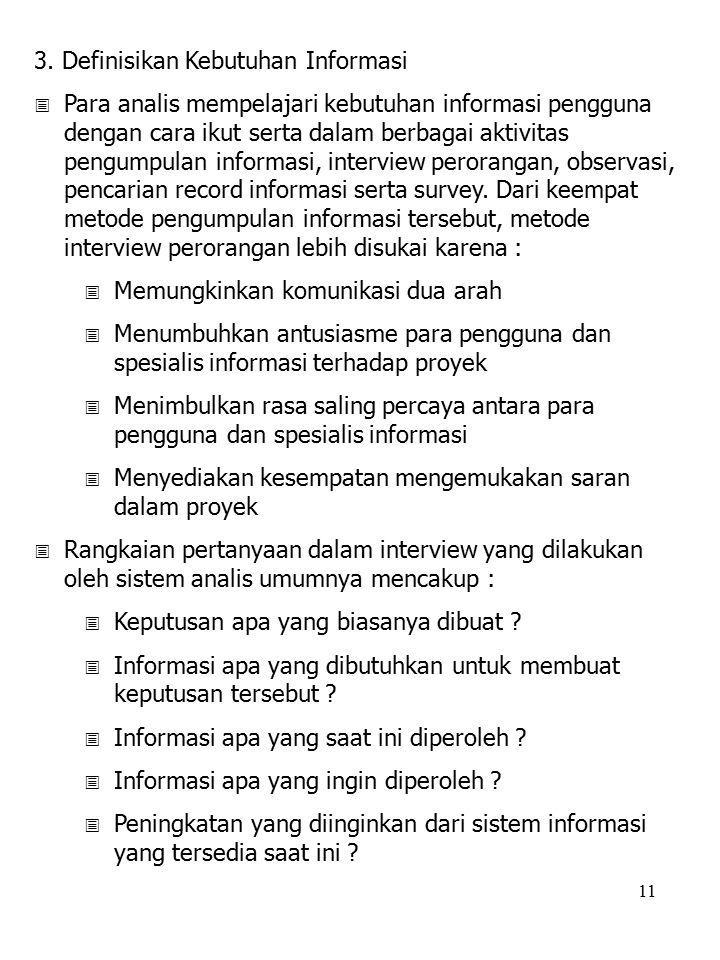 3. Definisikan Kebutuhan Informasi
