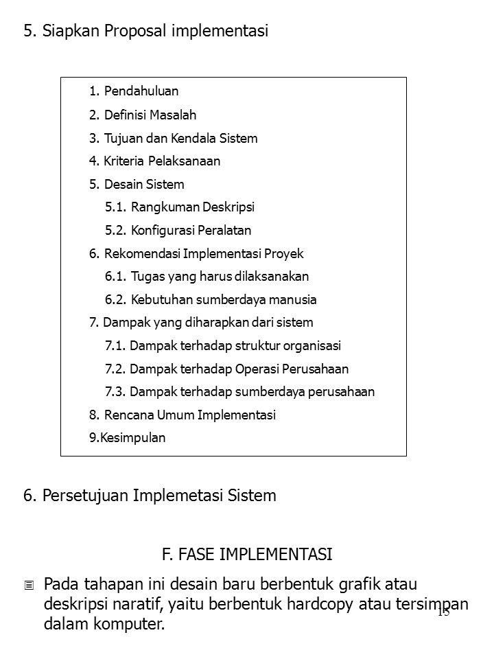 5. Siapkan Proposal implementasi